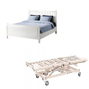 seng med høydejustering funksjonshjemmet